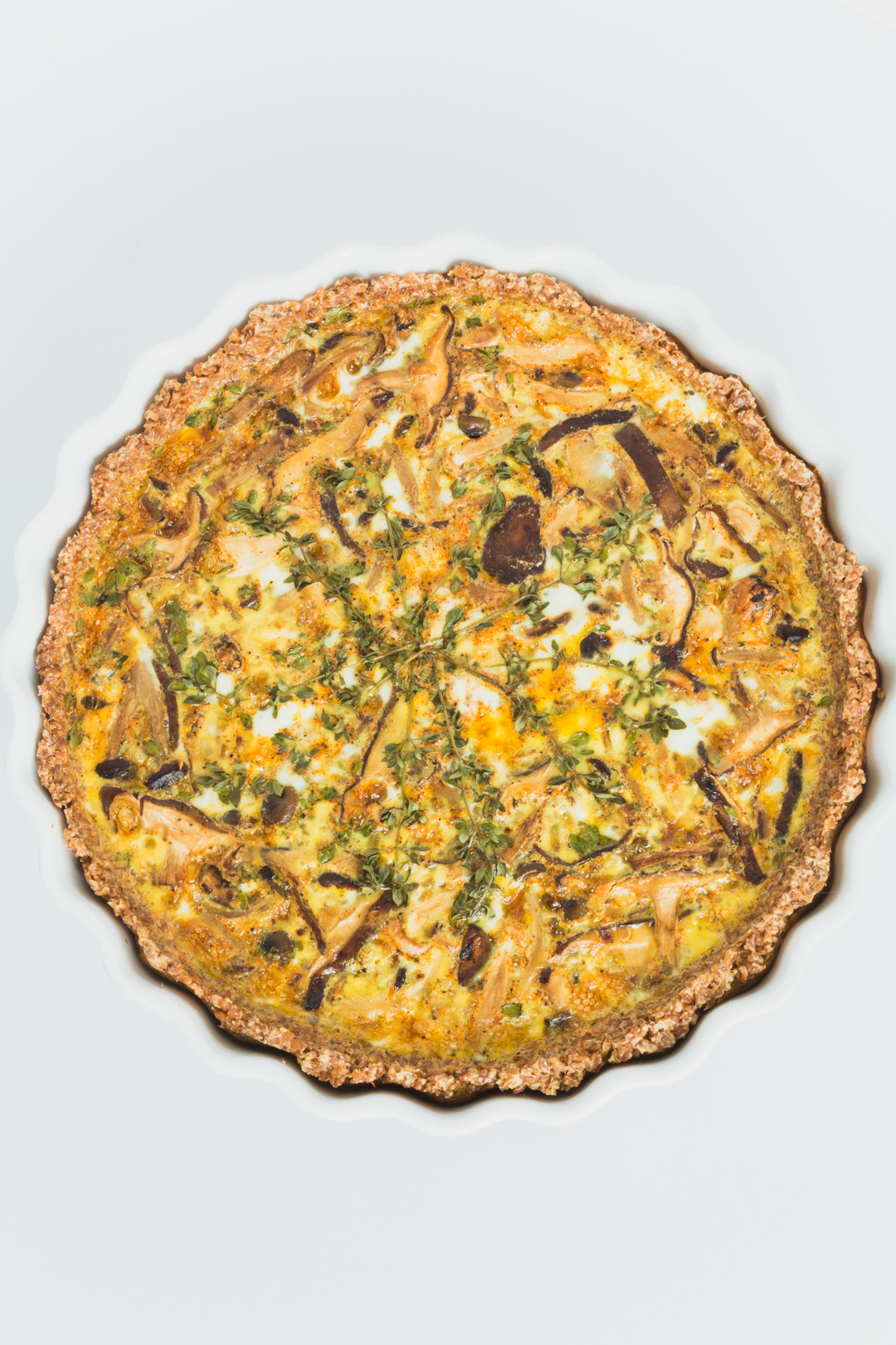 Mushroom Quiche with Spelt Berry Crust