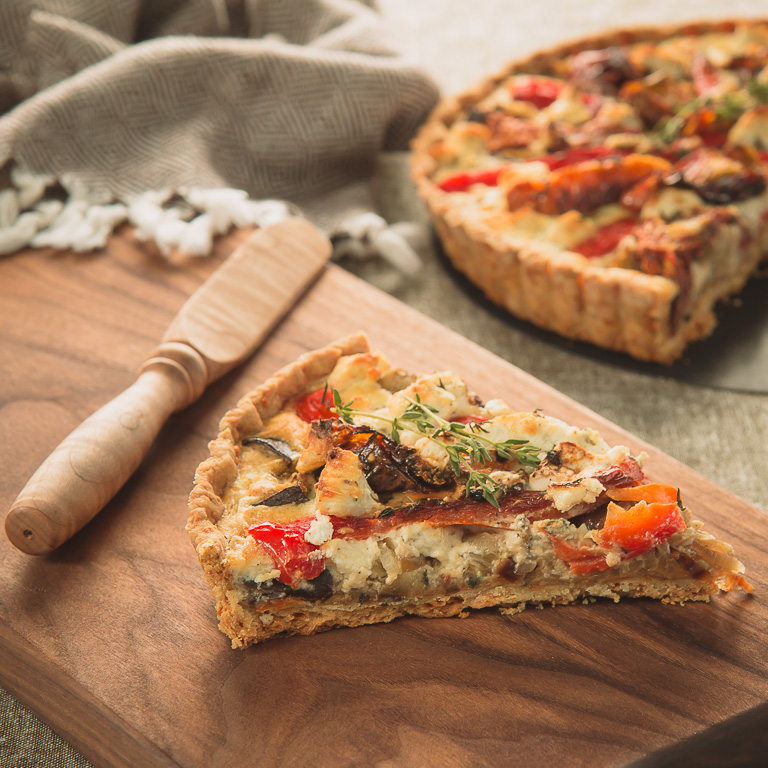 Roasted Vegetable Tart with Parmesan Crust