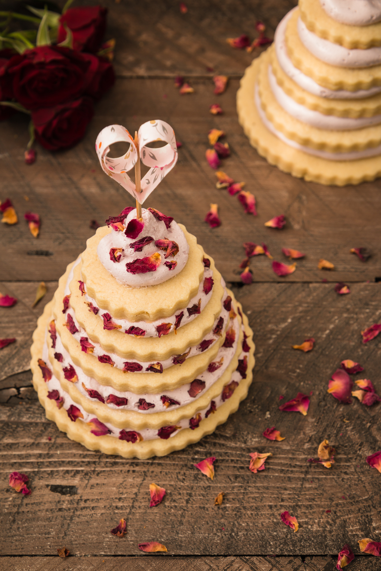 Sugar Cookie Love with Strawberry Rose Frosting
