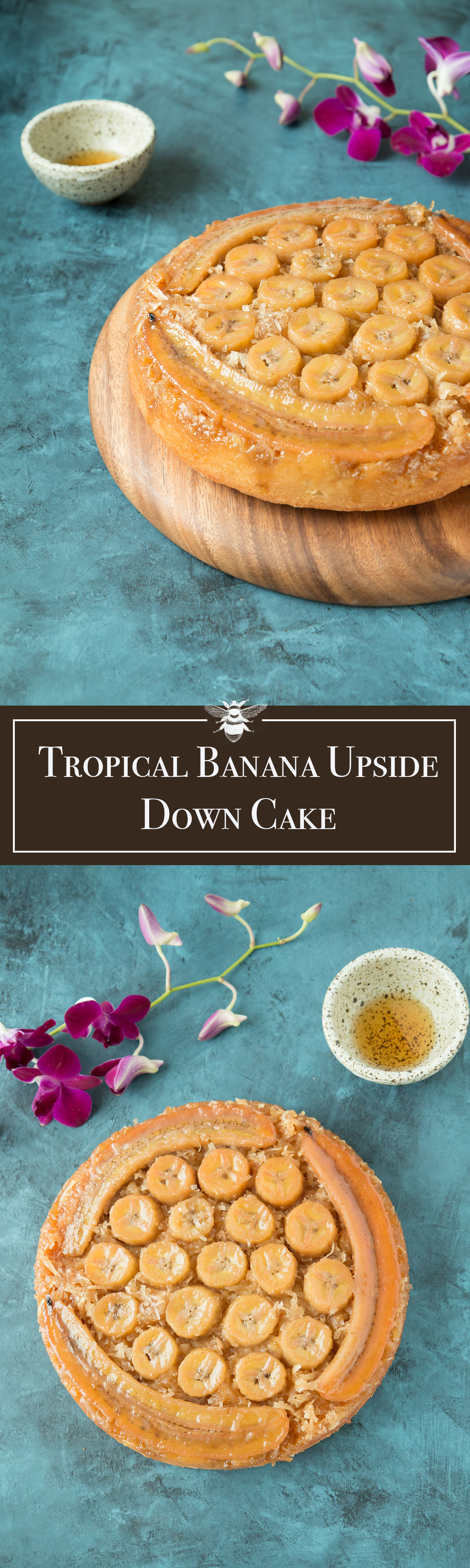 Tropical Banana Upside Down Cake