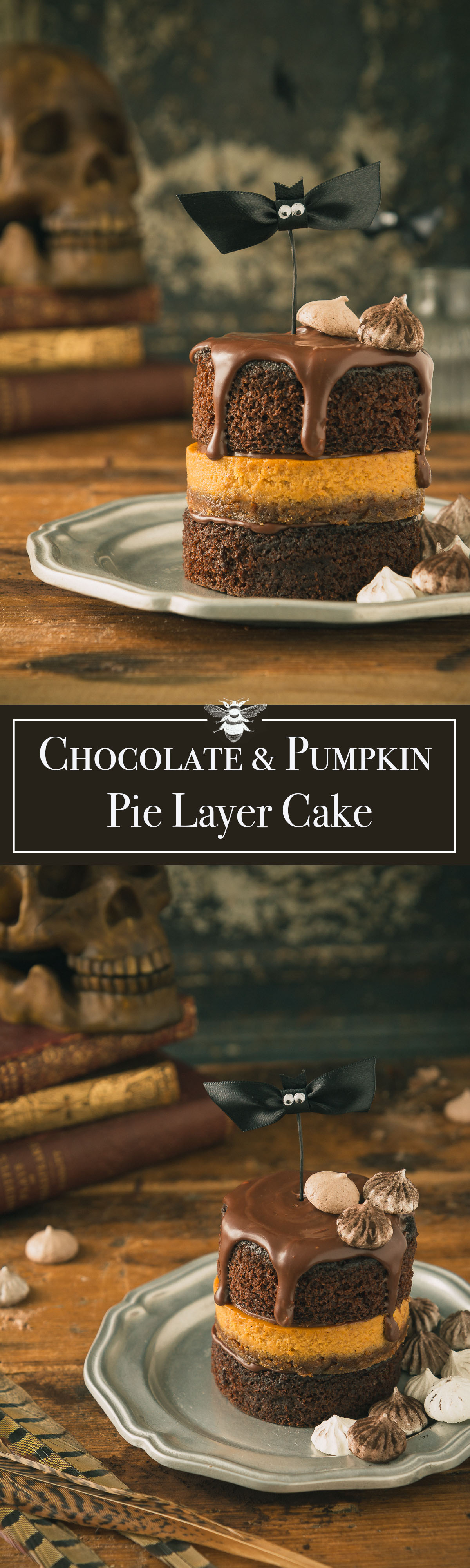 Chocolate & Pumpkin Pie Layer Cake