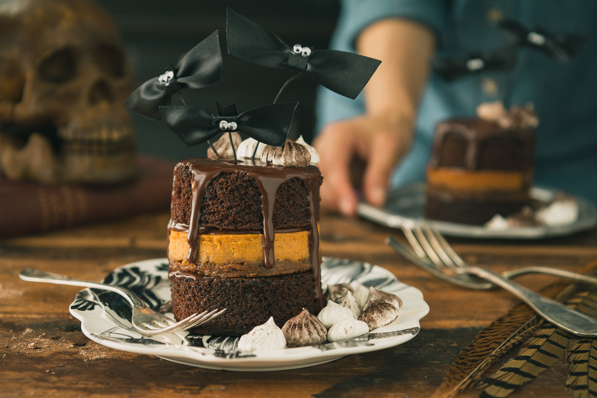 Chocolate and Pumpkin Pie Layer Cake