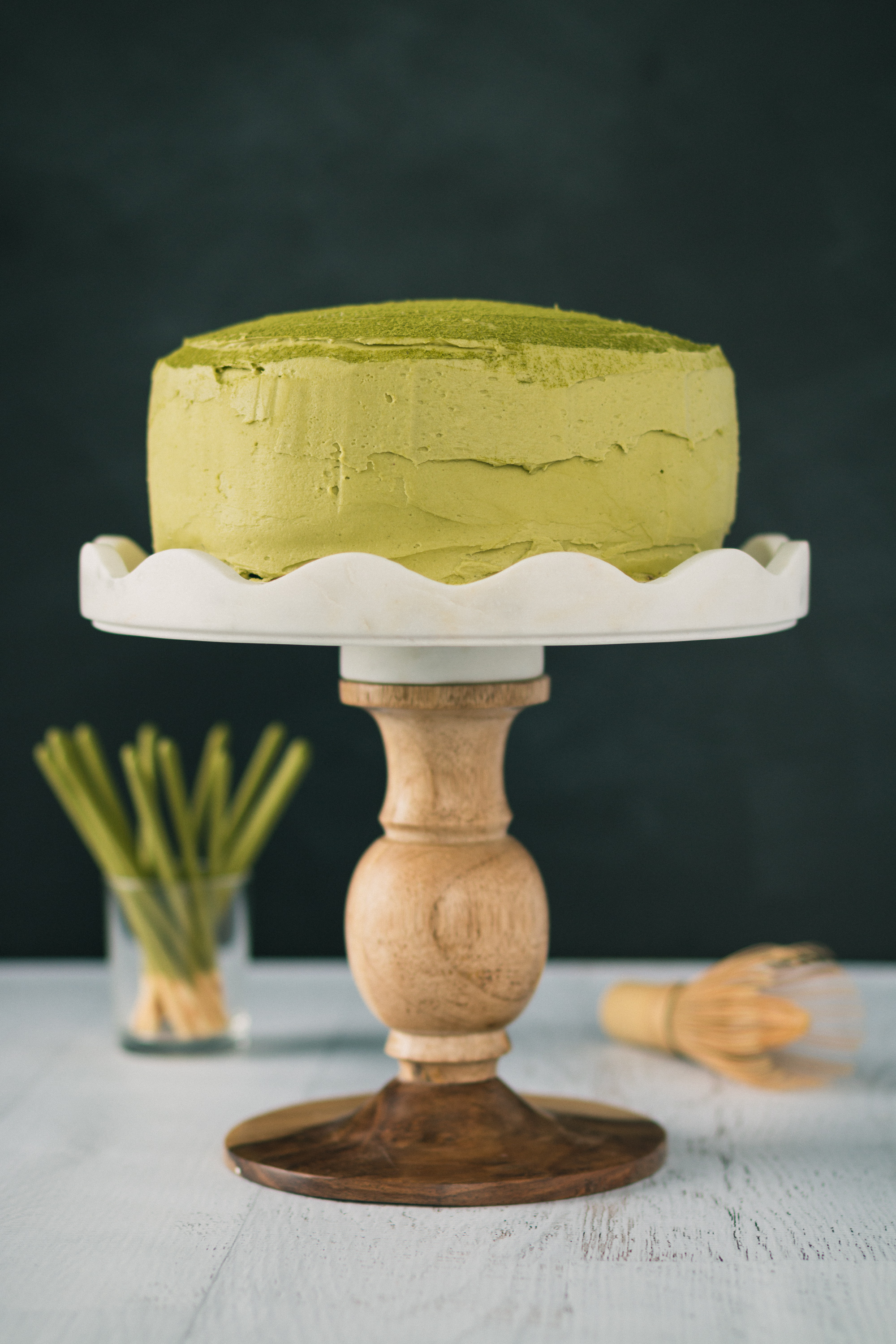 The Road to Honey's Most Popular Recipes of 2016 - Chocolate Matcha Pocky Layer Cake with Matcha Mousse and a Matcha Buttercream