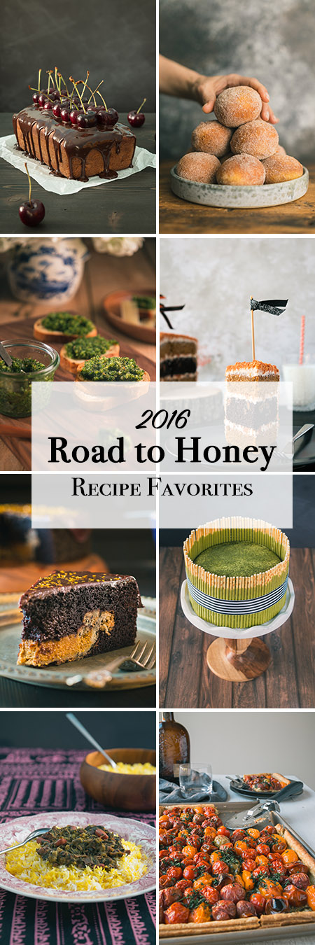 From donuts to cakes, pies and a couple of savory dishes sprinkled within, these are The Road to Honey's list of readers favorites in 2016