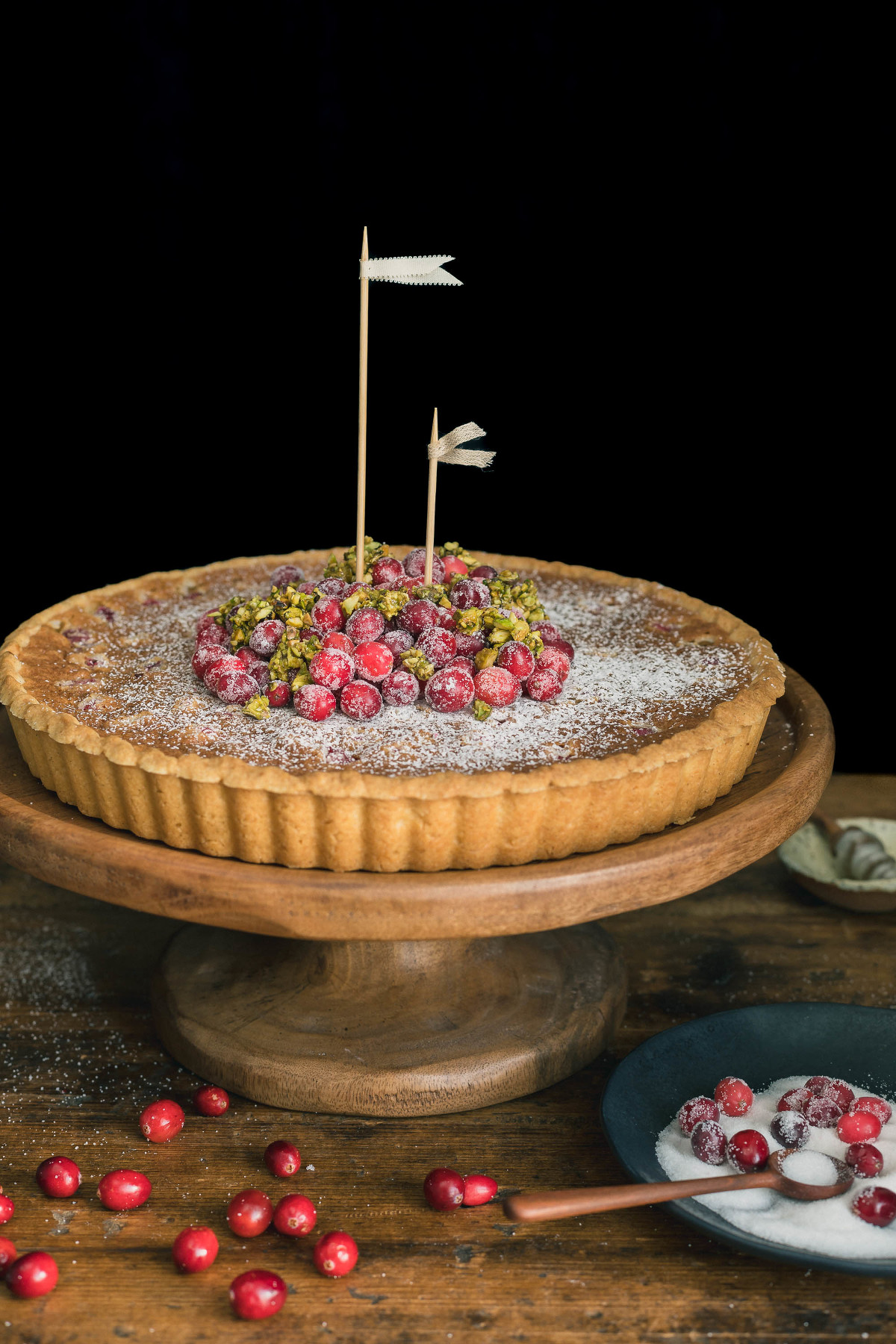 Cranberry Tart with Almond Frangipane | THE ROAD TO HONEY