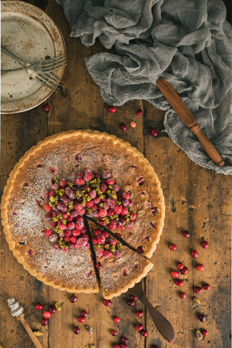 Cranberry Tart With Almond Frangipane The Road To Honey
