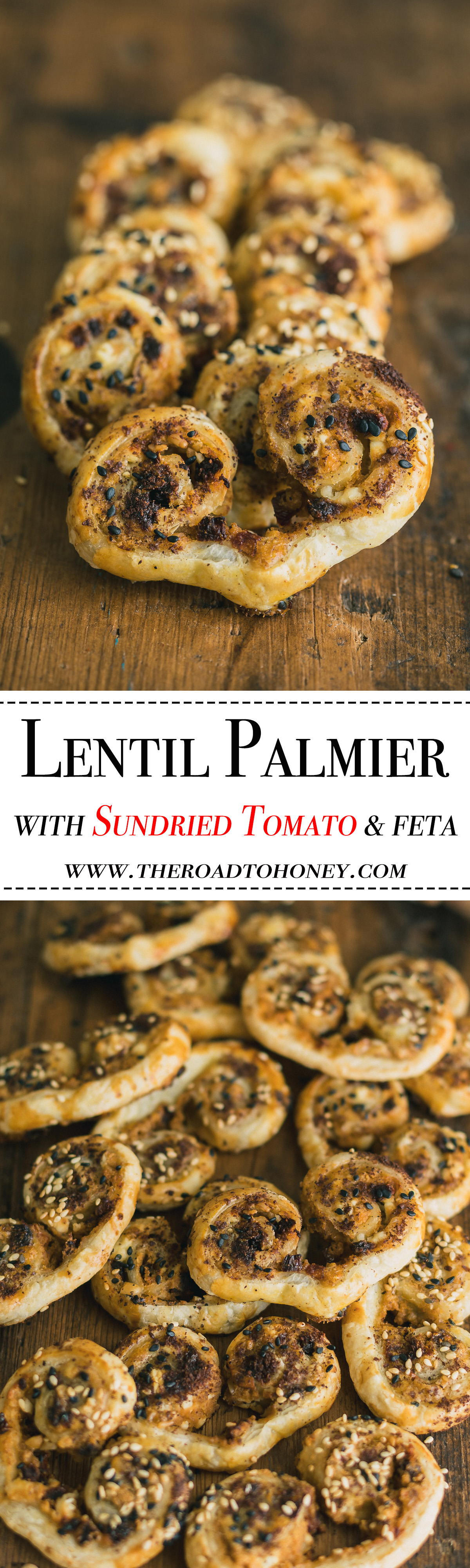 These savory Lentil Palmiers with Sun Dried Tomatoes & Feta Cheese are not only buttery & flaky but they are also loaded with protein.  They truly are the perfect appetizers for parties, wine tastings or any time you want to add a little extra protein boosted elegance into your life. Click for RECIPE. #LoveALentil #LetsLentil #ad