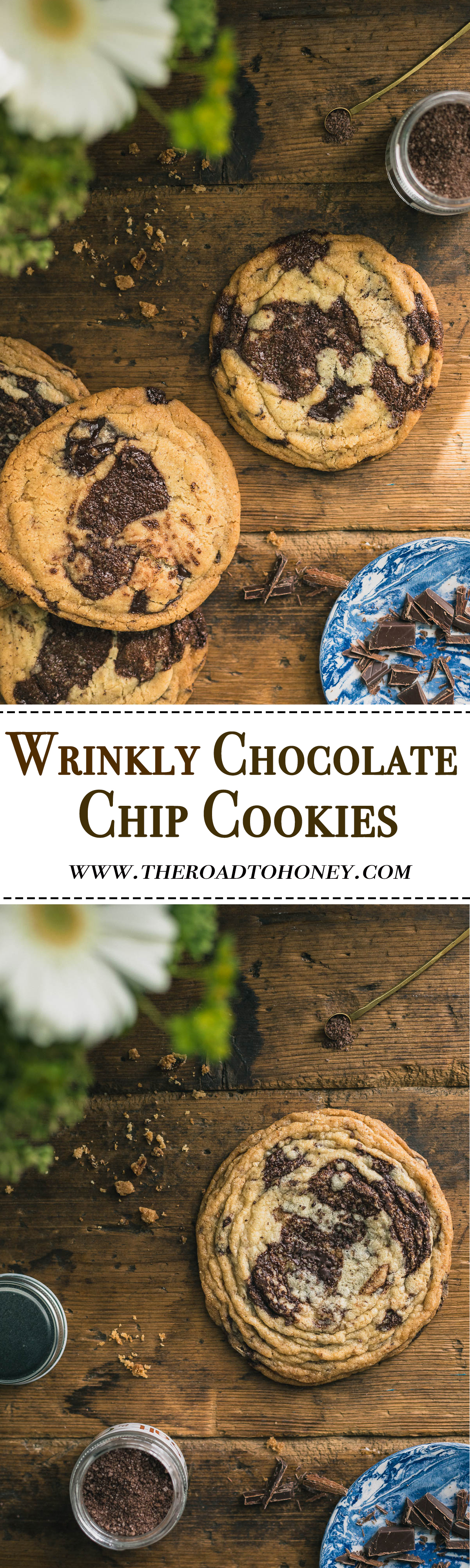 Best Ever Chocolate Chip Cookies (wrinkle edition)- These best ever Chocolate Chip Cookies use a special baking technique to give them a unique wrinkly appearance that is sure to have everyone stopping in their tracks.  A true American classic with a twist.