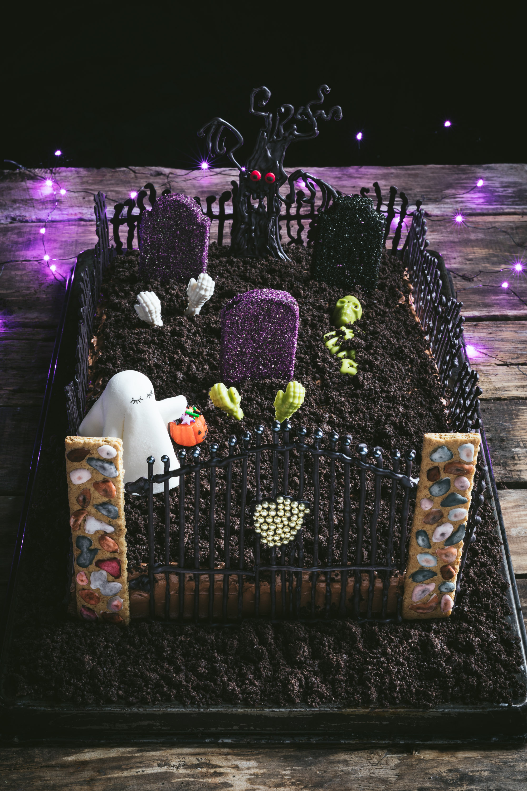 Ghost In The Graveyard Halloween Cake The Road To Honey